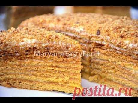 Торт «Медовый пух» или «Медовик». Бесподобный медовый десерт!