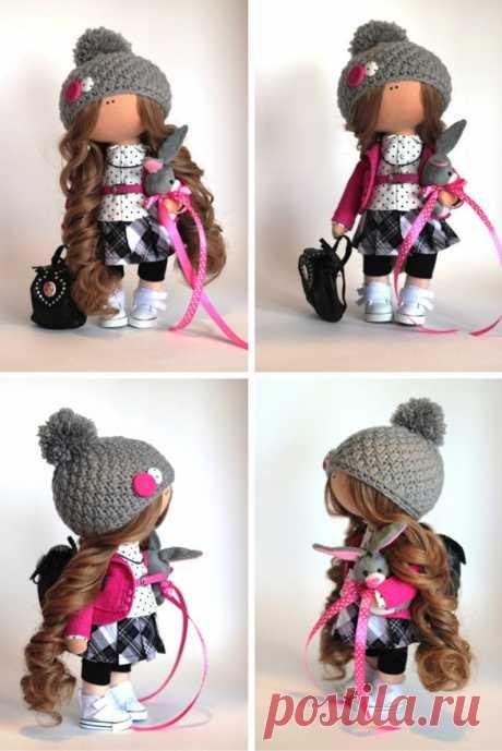Tilda doll Fabric doll Summer doll handmade pink color Soft | Etsy