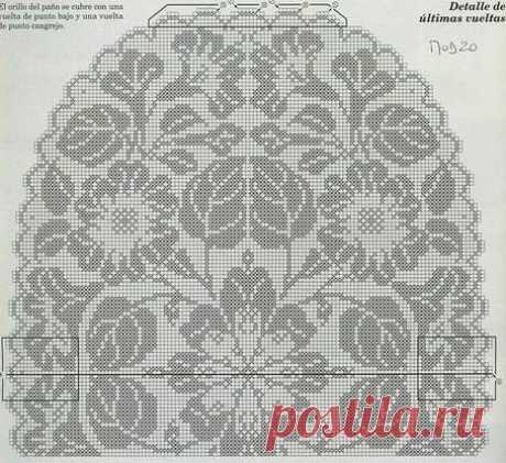 Подборка филейных салфеток со схемами вязания.(20+) Facebook