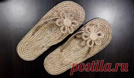 Летняя обувь из обычного джута - Сделай сам - медиаплатформа МирТесен