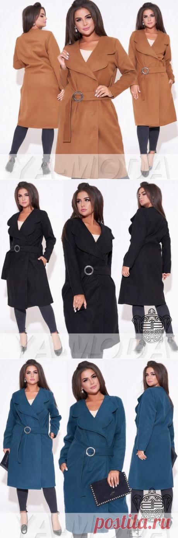 ✦Кашемировое пальто размер плюс купить недорого