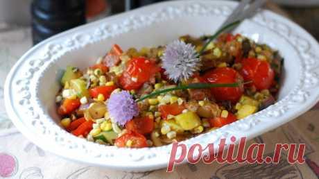 Кукурузный салат с летними овощами - Cooking Palette