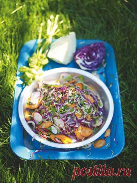 Салат из свежей капусты рецепт из Мексики | Рецепты Джейми Оливера