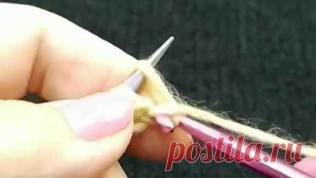 Набор петель на спицы крючком