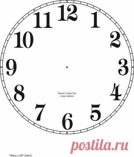 Шаблоны циферблатов. № 2. Обсуждение на LiveInternet— Российский Сервис Онлайн-Дневников