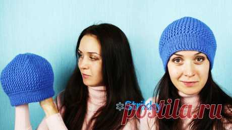 Как связать шапку для женщин с узором «косые петли»: МК с ВИДЕО