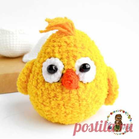 Вязаный цыплёнок крючком | схемы вязания Амигуруми