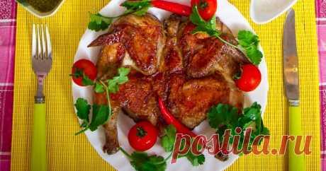 Цыпленок табака — рецепт вкусного грузинского блюда