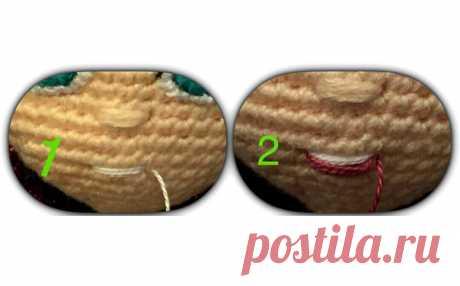 Как вышивать рот кукле Как вышивать рот кукле. Фото мастер-класс