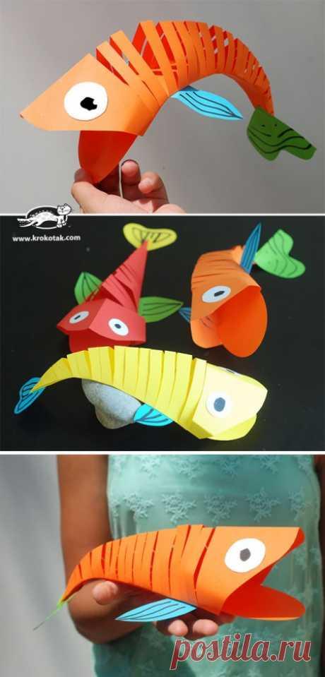 rybka del papel