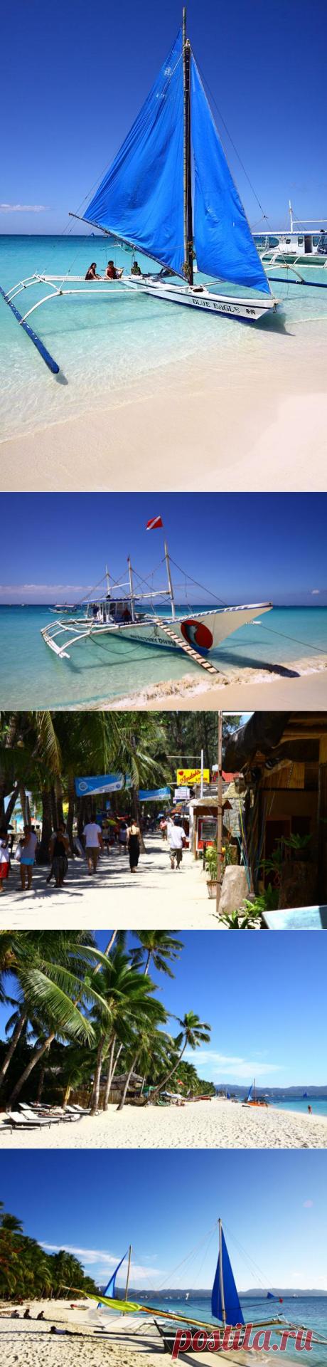 La playa blanca en la isla Borakay