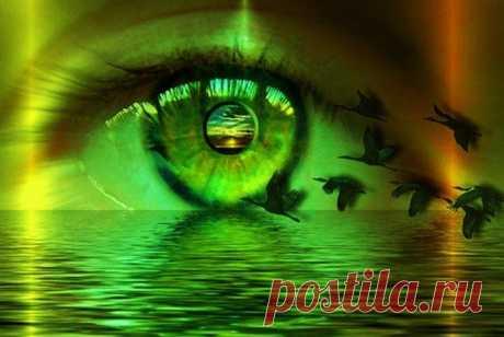"""""""Воля выражается в глазах человека, равно как и безволие. Волю можно сосредоточить во взгляде. Не может быть бегающего, уклоняющегося взгляда у сильного волею человека. Глаза – окна души, позволяющие видеть, что в ней происходит. Но окна можно плотно закрыть и не позволять заглядывать прохожим. Окно души от взоров сторонних закрывается мыслью. И посторонние будут видеть заслонившую окно мысль, но не то, что за нею. Эмоции и чувства также открыто и явно выражаются во взгляд..."""