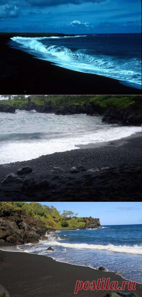 (+1) тема - Пляжи с вулканическим черным песком | УДИВИТЕЛЬНОЕ