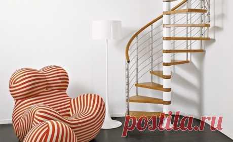 Винтовая лестница: типы, материалы, особенности установки