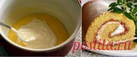 Рецепт пышного и мягкого бисквита с начинкой