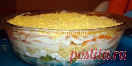 Рецепт: Салат из курицы с корейской морковью и киви с фото | Обжорики.ру - По домашнему вкусные рецепты