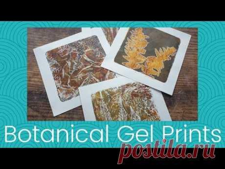 Botanical Gel Prints - YouTube
