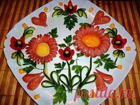 7 Лайфхаков Как красиво нарезать колбасу и сосиски! Украшения тарелки Как красиво оформить стол