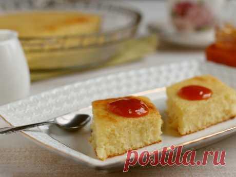 Манник как в детском саду — рецепт с фото на Русском, шаг за шагом. Еще одно сладкое блюдо, которое готовят в детском саду, - манник. Что-то среднее между пирогом и запеканкой, очень вкусно и бюджетно. #рецепт #рецепты #манник #выпечка #пирог #пироги