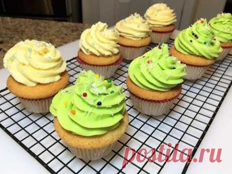 Kapkeyki suaves y Tiernos Americanos. ¡Fabulosamente sabroso! Cupcakes.