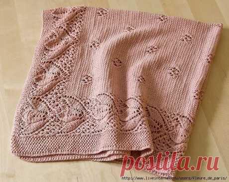 Красивое вязание каймы