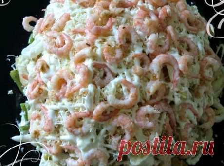 Слоеный салат из креветок, кальмаров и зеленой фасоли рецепт – европейская кухня: салаты. «Еда»