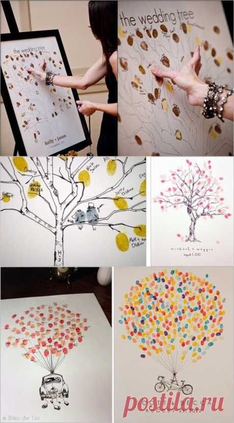 Дерево пожеланий с уникальными листочками-отпечатками!