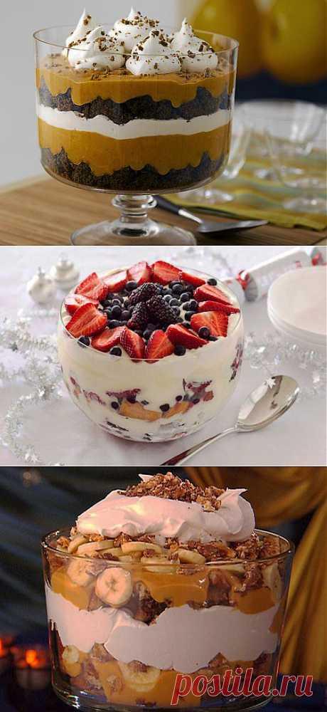Трайфл – простой английский десерт / Простые рецепты