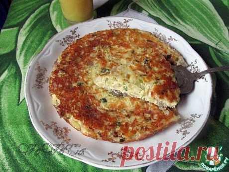 Луковый пирог на сковороде Кулинарный рецепт