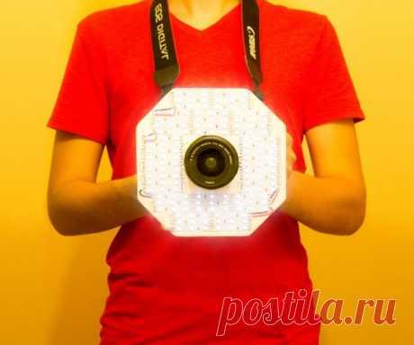 Восьмиугольная светодиодная лампа для камеры
