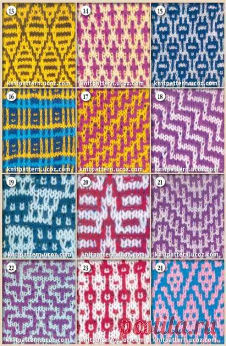 Lazy patterns. Knitting by spokes