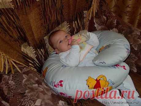 Шьем подушку для кормления малыша. Выкройка и маленький мк.