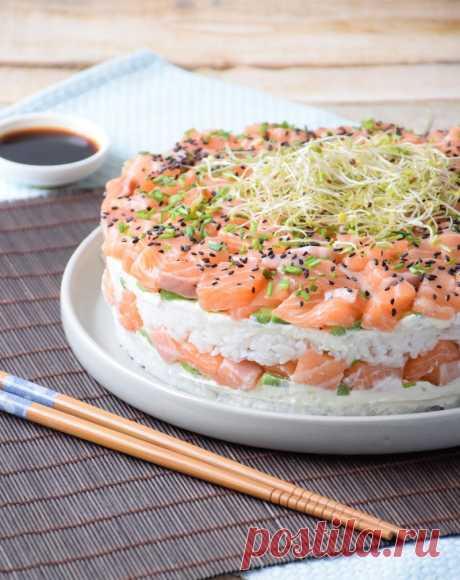 Вот рецепт суши-торта, от которого будут в шоке все ваши близкие. Находка для ″сушиманов″! - Образованная Сова
