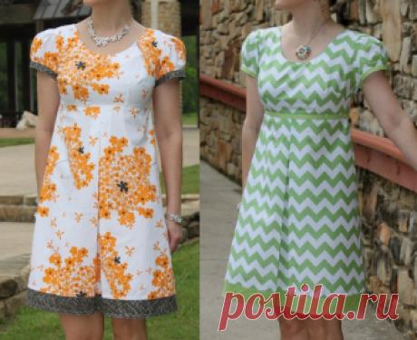 Vestido vintage com prega – DIY – molde, corte e costura – Marlene Mukai