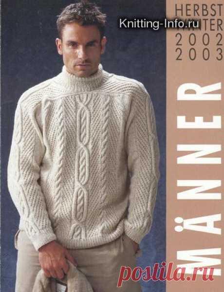 Вязание спицами - Мужской ирландский свитер спицами