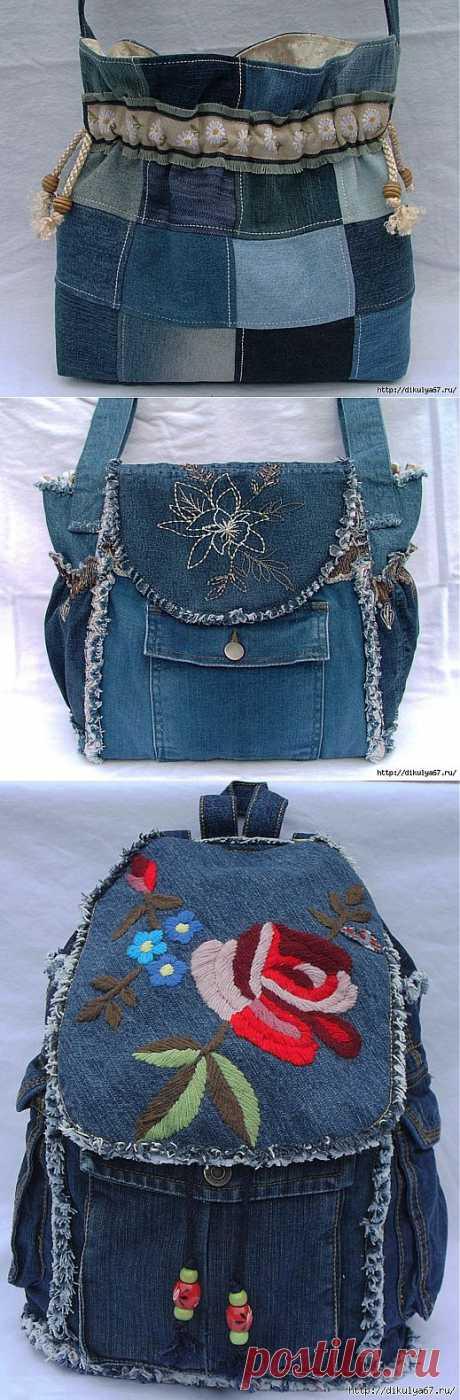 Чудесные джинсовые сумочки!.