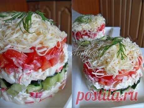 ТОП-10 салатов с помидорами — Едим дома