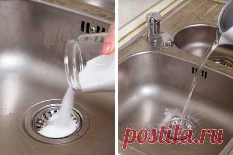 Соль прекрасно прочищает канализацию: но я ее использую не только для этого