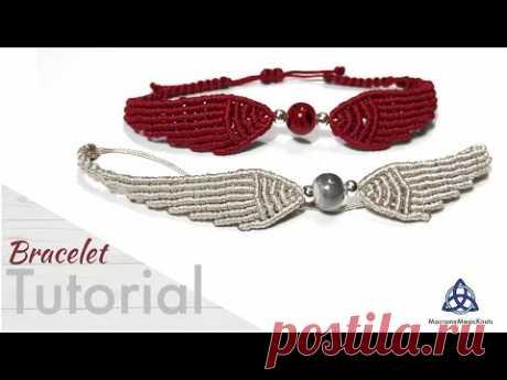 Крылья ангела, макреме