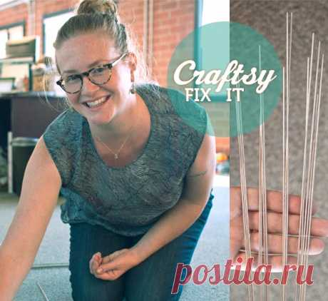 Fix-it Friday: How to Use Blocking Wires & Make Shawl Points!