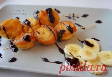 Бананы в кляре с шоколадом