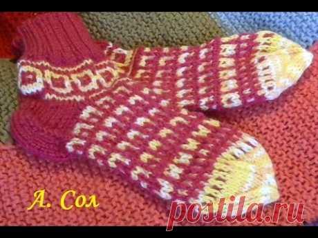 Socks lazy Jacquard, classical option