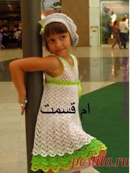 Детские летние сарафаны крючком