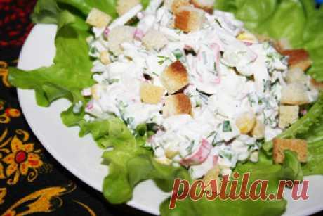 Салат с крабовыми палочками и редисом Новогоднее чудо рецепт с фотографиями