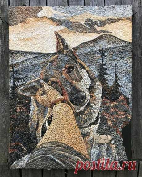 Чудесные сложные картины из камней: идеи для творчества