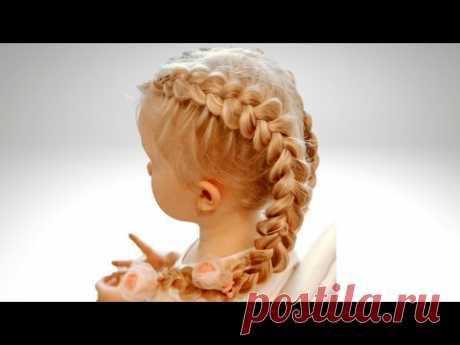 Французские косы Как заплести пошагово - YouTube