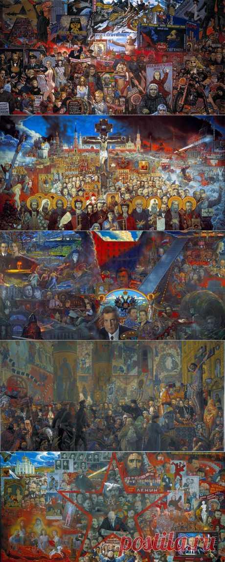 История и современность - Гигантские картины Ильи Глазунова