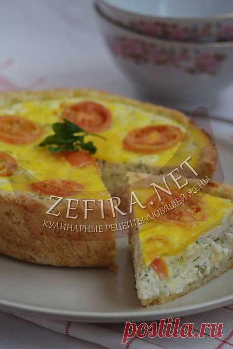 El pastel abierto de queso - las recetas de casa de la foto