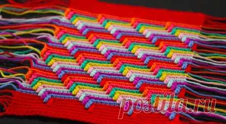Узор для разноцветных ковриков: «Слезы апачей»
