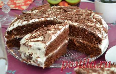 Шоколадный торт на кефире *Фантастика*  Очень простой и необычный рецепт вкусного торта. Приготовить сможет любой.  Попробуйте обязательно! Ингредиенты: Для теста: ●Кефир или простокваша -300 г ●Сахар – 1 стакан ●Яйца – 2 шт. ●Растительн…